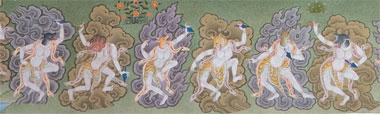 The six yoginis corresponding to the activity of pacifying © Terton Sogyal Trust
