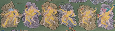 The six yoginis corresponding to the activity of increasing © Terton Sogyal Trust
